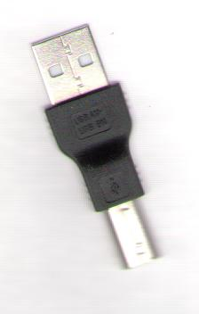 USB A-M TO B-M SMALL ADAPTER FOR LAPTOPS